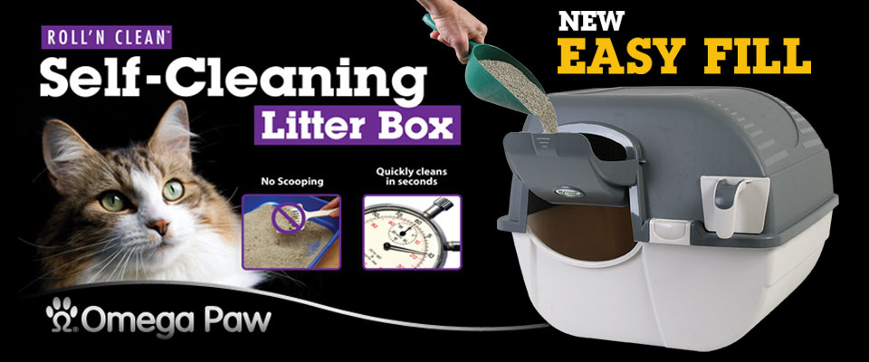 Easy Fill Roll'n Clean Self-Cleaning Litterbox