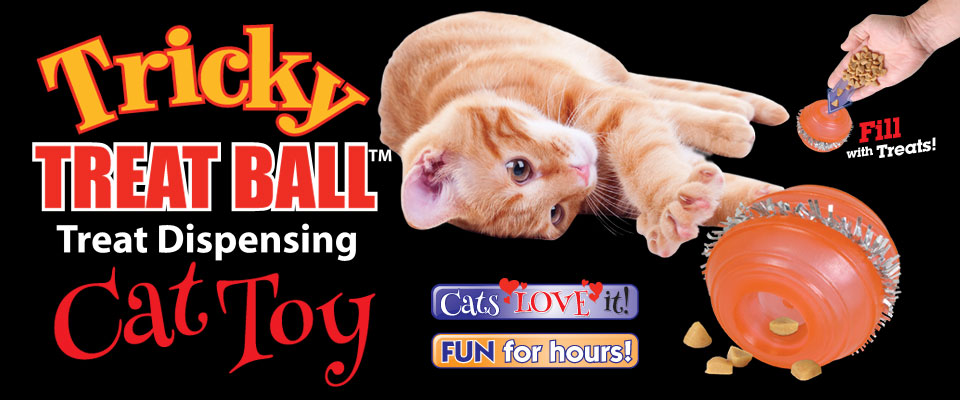 Tricky Treat Ball Cat Toy